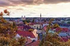 Aerial view of Eger city with the Kethuda minaret, Hungary County Seat, Famous Places, Aerial View, Hungary, Travel Photos, Fine Art America, Paris Skyline, Castle, Scene