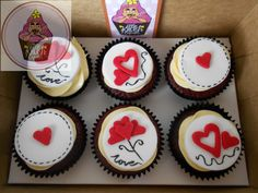 Valentine cupcake @ https://www.facebook.com/pages/Little-Krush-Cupcakes-NZ/485728288124195