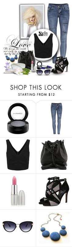 """""""shein."""" by jecakns ❤ liked on Polyvore featuring MAC Cosmetics, Rebecca Minkoff, TheBalm and Oscar de la Renta"""