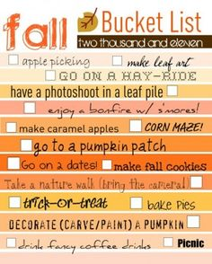 fall bucketlist!!