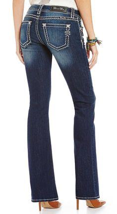 Miss Me Thick-Stitch Stretch Denim Bootcut Jeans $99.50 http://shopstyle.it/l/kt6N