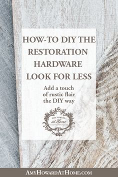 DIY expert Amy Howard shares all about DIYing the Restoration Hardware look. Learn how to recreate the look expensive reclaimed wood with Amy Howard at Home products. Amy demonstrates how to add a touch of rustic flair the DIY way! White Washed Furniture, Painted Furniture, Diy Furniture, Furniture Refinishing, Repurposed Furniture, Modern Furniture, Furniture Design, Furniture Restoration, Restoration Hardware