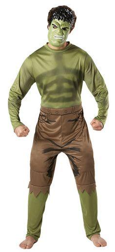 Naamiaisasu; The Hulk  Lisensoitu Marvelin The Hulk. Hulk on Marvel-kustantamon luoma uskomattoman väkivahva supersankari. Hulkin ensiesiintyminen oli amerikkalaisen Incredible Hulk -lehden ensimmäinen numero toukokuussa 1962 ja hahmon loivat Stan Lee ja Jack Kirby. #naamiaismaailma