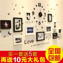 Are more loving family wood frame wall photo wall Mediterranean small living room European-style combination of creative photo wall 16 USD $55.05 / piece