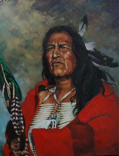 """Quiet Dignity"" -Outstanding Indian Art Native American Art - Native American ArtOriginal Oil Paintings"