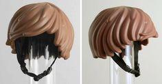 Someone Made A Real-Life LEGO Hair Bike Helmet That Turns You Into A LEGO Figure | Bored Panda