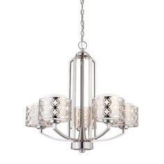Hall option - Nuvo Lighting 60-4 5 Light Margaux Chandelier