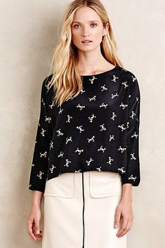 Playful Poodle Blouse #anthropologie