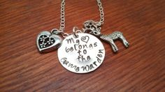 Handstamped Game Warden necklace My heart by ByalittlebitofFaith, $28.00