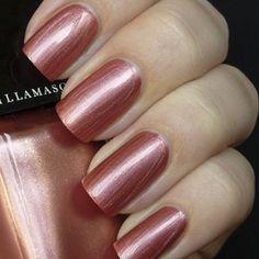 NAIL VARNISH  in Color: Shrapnel -ROSE COPPER CHROME, METALLIC FINISH