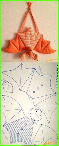 saving this because i have never seen a bat pattern. saving this because i have never seen a bat pattern. Sewing Toys, Sewing Crafts, Sewing Projects, Sewing Clothes, Sewing Ideas, Diy Projects, Felt Crafts, Fabric Crafts, Diy And Crafts