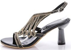 Reinhar Ankle Strap Studded Glamour Heeled Sandal Toe Evening Party Kitten Heel >>> Unbelievable  item right here! : Hiking sandals