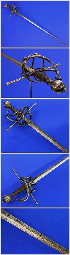 Swept Hilted Rapier      Maker: Louis Martine de Moreno     Dated: 16th century     Culture: Spanish     Measurements: overall length 125 cm