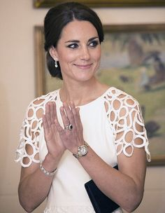Duchess of Cambridge attended a party at Yarralumla, the residence of the Governor General