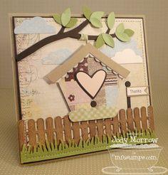 Cute bird house card