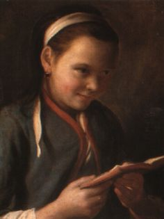 A girl reading by Pietro Antonio Rotari