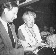 ER with David Gurewitsch, the love of her later life, in 1955
