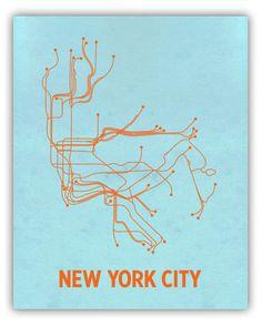 Minimalist Maps [New York Subway]
