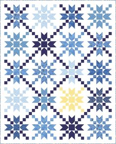 """Check out our FREE """"Starbust"""" quilt pattern using the collection, """"Brittany"""" by Dover Hill Studios. Designed by Wendy Sheppard. Finished size: 75"""" x 93""""."""