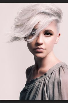 White hair, I like the cut, even if it's not quite my little pony hair!