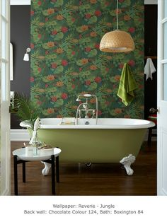I want this bathroom!  Reverie - Jungle - Reverie c.1971 - Retrospective Papers - Shop by Collection - Wallpaper