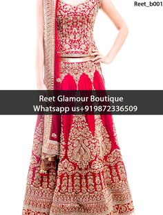 Adorable Crimson Heavy Embroidered Bridal Lehenga Product Code : Reet_b001 To Order, Call/Whats app On +919872336509 We Offer Huge Variety Of Punjabi Suits, Anarkali Suits, Lehenga Choli, Bridal Suits,Sari, Gowns Etc .We Can Also Design Any Suit Of Your Own Design And Any Color Combination.