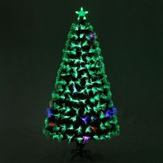 Fiber Optic Christmas Tree With Seven Flash Modes Fiber Optic Christmas Tree, Merry Christmas, Holiday Decor, Merry Little Christmas, Wish You Merry Christmas