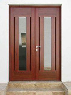Front Door Design Wood, Wooden Door Design, Main Door Design, Wooden Doors, Main Entrance Door, Entry Doors, House Extension Design, House Design, Contemporary Doors