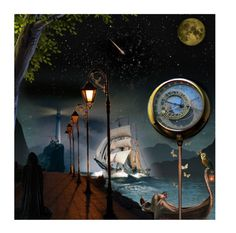 """Voyages..."" by k-schrager ❤ liked on Polyvore featuring art"