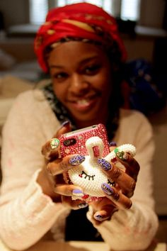 Azealia Banks with WAH Nails