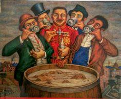 Juan O´Gorman: Los enemigos del pueblo de México; 1943
