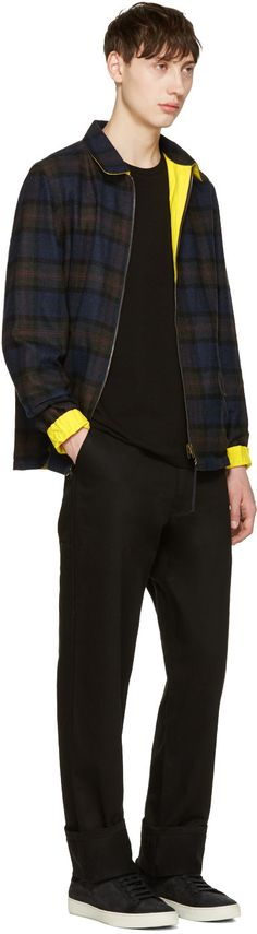 Noah - Reversible Black Plaid Coaches Jacket