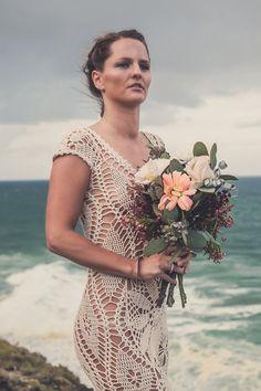 "Handmade Crochet Wedding Dress ""LUNA CRECIENTE"""