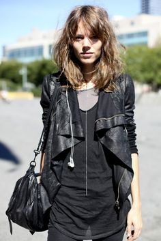 I'm clearly feeling some leather jacket lust this morning (a terrible thing for a vegetarian to feel!).