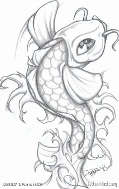 multicolored koi fish drawing - Google Search