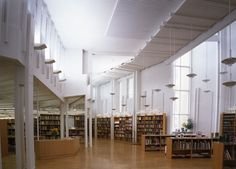 Light and shape at Vallila Library, Finland (though I'm a little nervous of walking on that shiny wooden floor!)