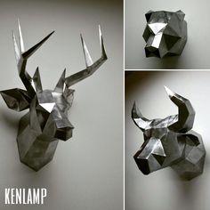 @kenlamp  Абсолютный тренд 2016 года - полигональные фигуры животных!  Мастерская @kenlamp  делает трофейные головы и фигуры животных  только из стали покрытые специальным лаком.  Под заказ доступны головы:  Олень Бык Медведь и Лошадь  89524530396 WhatsApp by loft_interior