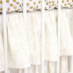 Caden Lane Baby Bedding - Gold Sparkle Ruffle Crib Skirt, $148.00 (http://cadenlane.com/gold-sparkle-ruffle-crib-skirt/)