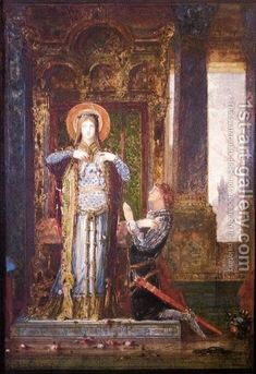 Saint Elisabeth Of Hungary by Gustave Moreau Handmade oil painting reproduction on canvas for sale,We can offer Framed art,Wall Art,Gallery Wrap and Stretched Canvas,Choose from multiple sizes and frames at discount price. Religious Paintings, Religious Art, Saint Elizabeth Of Hungary, Art Database, Oil Painting Reproductions, Traditional Paintings, A4 Poster, Painting Process, Vintage Artwork