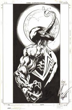 ULTIMATE SPIDER-MAN #35 COVER ( 2003, MARK BAGLEY ) ULTIMATE VENOM! Comic Art