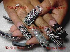 Long Nail Designs, Beautiful Nail Designs, Beautiful Nail Art, Nail Art Designs, Fabulous Nails, Perfect Nails, Gorgeous Nails, Pretty Nails, Crazy Nails