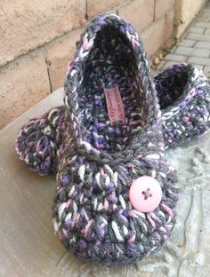 NEW Color Ladies Slippers.....in Gray Lavender and by GrammaLeas, $12.00