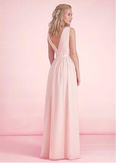 Buy discount Exquisite Chiffon V-neck Neckline A-line Bridesmaid Dresses at Dressilyme.com