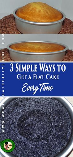 Three simple ways to get a flat cake layer every time - Wow! Custom Cakes+ Cake Decorating Tutorials Three simple ways to get a flat cake layer every time – Wow! Creative Cake Decorating, Birthday Cake Decorating, Cake Decorating Techniques, Cake Decorating Tutorials, Creative Cakes, Decorating Ideas, Cake Birthday, Bake Flat Cakes, No Bake Cake
