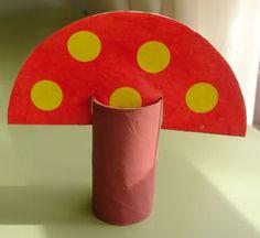 Mushroom paper roll craft