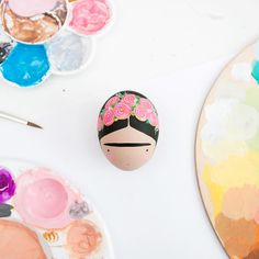 A little Frida Egg Painting Happy Easter