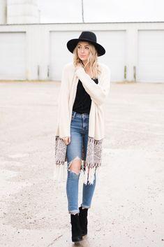 fall/winter boho, casual outfit idea | Love, Lenore