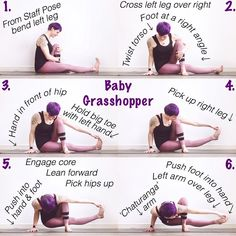 "877 mentions J'aime, 129 commentaires - Laura Large (@omniyogagirl) sur Instagram : ""✨ Baby Grasshopper Tutorial ✨ #omniyogagirltips ✨ Thank you for the request @mallanfrallan84  .…"""