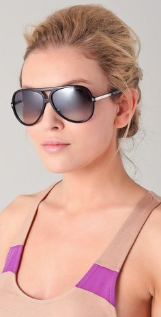 Marc by Marc Jacobs Oversized Aviator Sunglasses $110