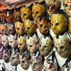 Friday the - Jason masks Slasher Movies, Horror Movie Characters, Best Horror Movies, Horror Films, Scary Movies, Arte Horror, Horror Art, Gremlins, Horror Room